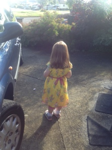 June 2014- The 4 year old heading off this morning